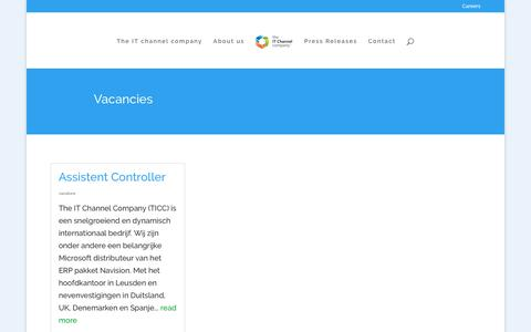 Screenshot of Jobs Page itchannelcompany.com - Careers - The IT Channel Company - captured Nov. 9, 2017