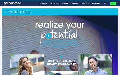 Screenshot of Jobs Page cornerstoneondemand.com - Careers at Cornerstone OnDemand | Cornerstone - captured Oct. 21, 2016