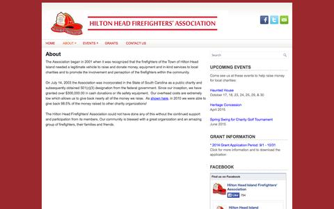 Screenshot of About Page hhfirefighters.org - About | Hilton Head Firefighters Association - captured Oct. 2, 2014