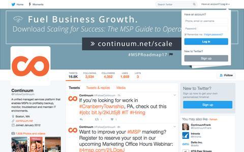 Continuum (@FollowContinuum) | Twitter