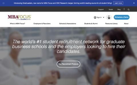 Screenshot of Home Page mbafocus.com - MBA Recruitment Technology | MBA Career Services Software | MBA Focus - captured Oct. 7, 2015