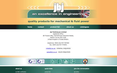 Screenshot of Contact Page jbj.co.uk - contact details for jbj Techniques Limited - captured Nov. 27, 2016