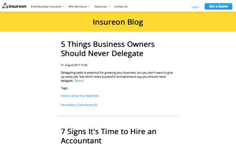 Business Insurance Blog | News Articles & Resources | Insureon | Small business news, articles, and resources. Provided by Insureon, the nation's leading small business insurance agency.
