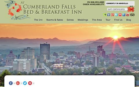 Screenshot of Contact Page Maps & Directions Page cumberlandfalls.com - Bed and Breakfast Lodging in Downtown Asheville - captured June 20, 2016