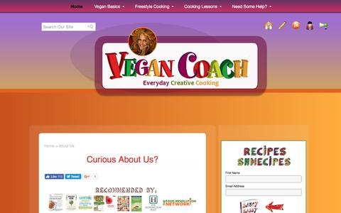 Screenshot of About Page vegancoach.com - About Us | Vegan Coach | Creative Cooking - captured June 12, 2017
