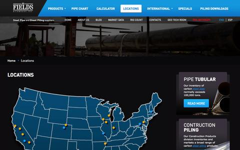 Screenshot of Locations Page jdfields.com - Locations | JDFields & Company, Inc. - captured Oct. 1, 2014