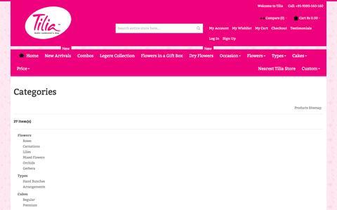 Screenshot of Site Map Page tilia.in - Site Map | Tilia - captured Dec. 18, 2016