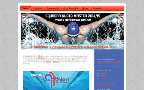 Screenshot of Home Page athlonroma.net - Centro Sportivo Athlon - Roma - captured Oct. 4, 2014