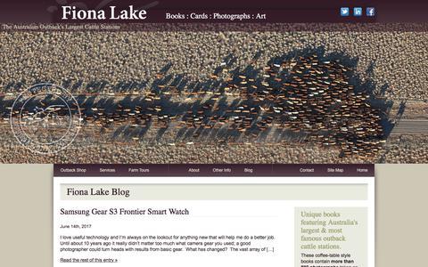 Screenshot of Press Page fionalake.com.au - News – Fiona Lake Photography | Fiona Lake Australian Outback Photos & Writing - captured June 26, 2017