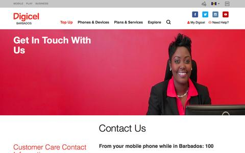Screenshot of Contact Page digicelgroup.com - Contact Us - captured Dec. 29, 2016