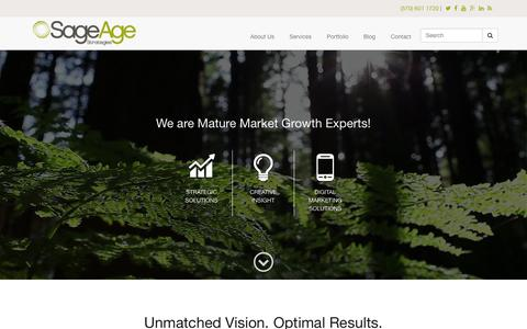 Screenshot of Home Page sageagestrategies.com - Senior Living Marketing and Business Growth Experts | Sage Age Strategies - captured Aug. 2, 2015