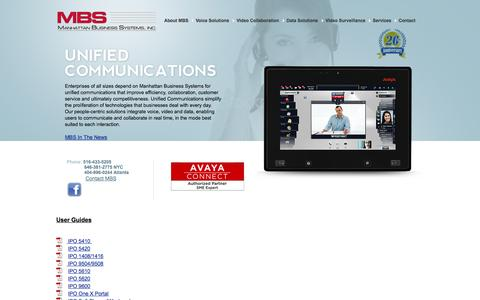 Screenshot of Support Page mbsnetworks.com - Avaya IP Office Reseller, Avaya IP Office support, New York NYC and Long Island IP Office - captured Oct. 4, 2014