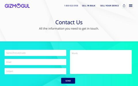 Screenshot of Contact Page gizmogul.com - Contact Us - Gizmogul.com - captured Dec. 18, 2017