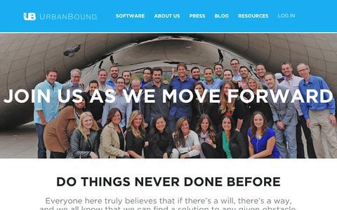 Screenshot of Jobs Page urbanbound.com - Careers - captured Oct. 28, 2014