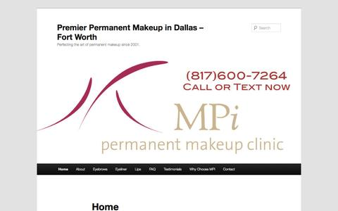 Premier Permanent Makeup in Dallas - Fort Worth | Perfecting the art of permanent makeup since 2001.