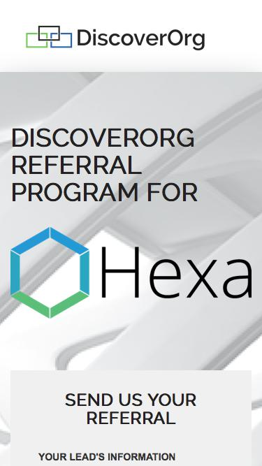 Hexa & DiscoverOrg Referral Program