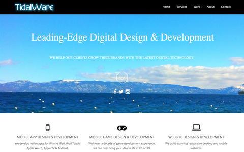 Screenshot of Home Page tidalware.com - TidalWare™   Digital Design & Development Agency - captured Feb. 26, 2016