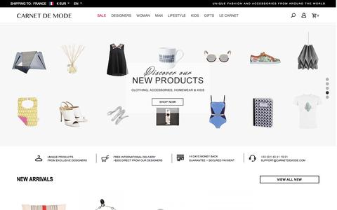 Screenshot of Login Page carnetdemode.com - Carnet de Mode - shop unique fashion and accessories from around the world - captured May 24, 2016