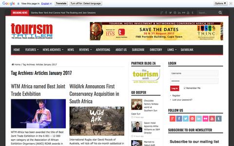 Articles January 2017 | Tourism Tattler