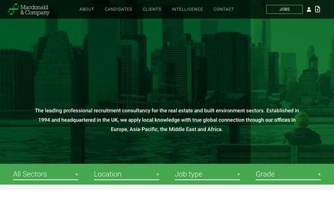 Screenshot of About Page macdonaldandcompany.com - Macdonald & Company | Macdonald And Company - captured May 16, 2019