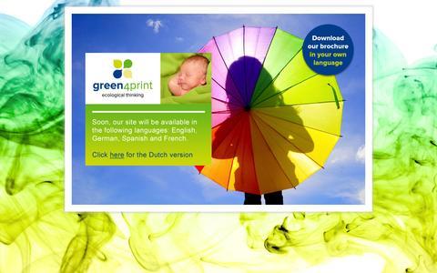 Screenshot of Home Page green4print.com - Green4Print | Green4Print - captured Sept. 30, 2014