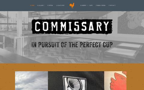 Screenshot of Press Page coffeecommissary.com captured Oct. 9, 2014