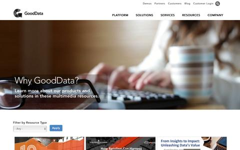 Resources: White Papers, Demos, Webinars | GoodData