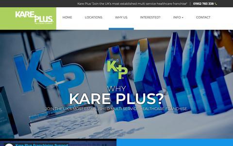 Screenshot of FAQ Page kareplus.co.uk - Why Choose A Kare Plus Healthcare Franchise? | Kare Plus Franchising - captured Oct. 15, 2018