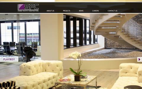 Screenshot of Home Page spcinc.com - Sierra Pacific Constructors - captured Feb. 26, 2016
