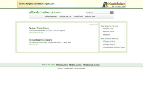 Screenshot of Pricing Page affordable-techs.com - Contact Support - captured Oct. 10, 2014