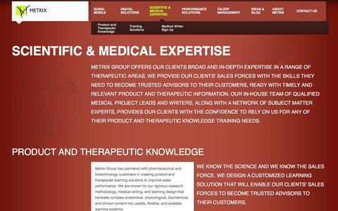 Screenshot of Signup Page metrixgroup.com - Scientific & Medical Expertise - Metrix Group - captured Jan. 10, 2016