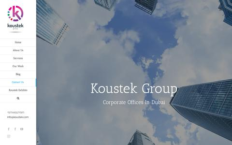 Screenshot of Contact Page koustek.com - Contact Us | Koustek Group - captured Oct. 16, 2018