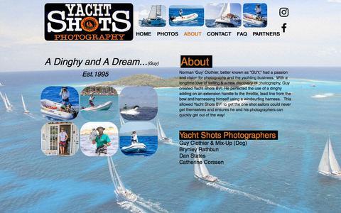 Screenshot of About Page yachtshotsbvi.com - yacht-shots-bvi | ABOUT - captured May 25, 2017