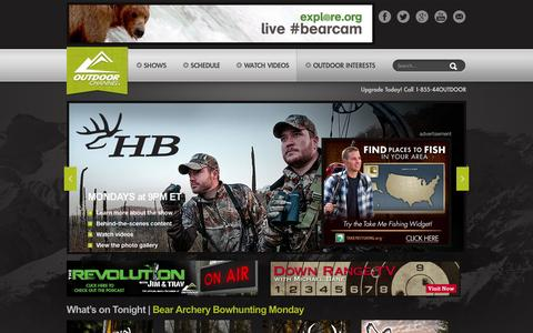 Screenshot of Home Page outdoorchannel.com - Outdoor Channel - captured Jan. 26, 2015