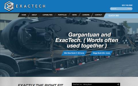 Screenshot of Home Page exactechinc.com - Exactly the right fit. - ExacTech Inc. - captured Dec. 13, 2015