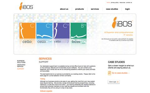 Screenshot of Support Page ibosltd.com - I-bos Limited: Comprehensive IT accounting solutions - captured Oct. 6, 2014