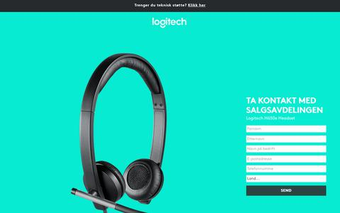 Screenshot of Landing Page logitech.com - Logitech H650e Headset | Contact Us - captured Sept. 30, 2017