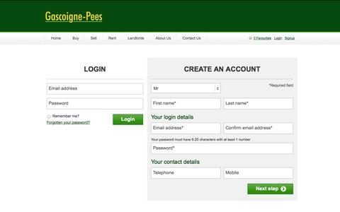 Screenshot of Login Page gpees.co.uk captured Sept. 23, 2014