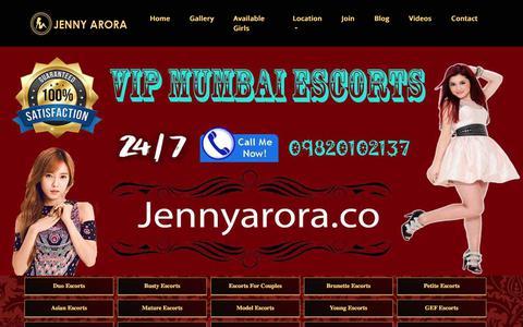 Screenshot of Signup Page jennyarora.co - Call girl job Mumbai | Earn 30k Daily and more - captured July 7, 2018