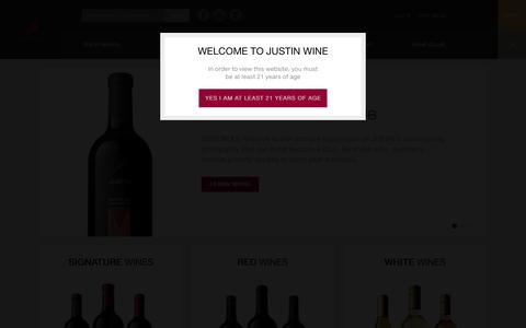 Screenshot of Signup Page justinwine.com - Shop Justin Wines - Justin Winery - captured Sept. 19, 2014