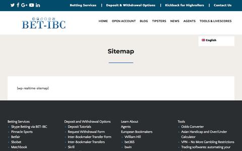 Screenshot of Site Map Page bet-ibc.com - Sitemap - BET-IBC - captured July 31, 2018