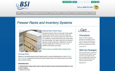 Screenshot of Terms Page bsilab.com - Stainless steel freezer racks and inventory systems | BSI - captured Oct. 4, 2014