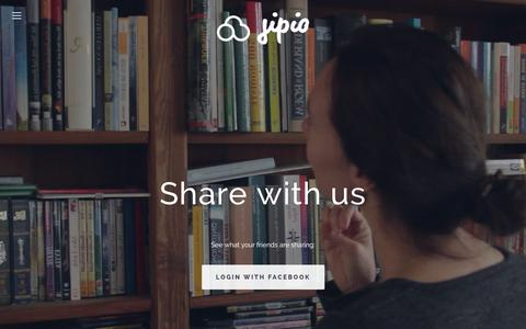 Screenshot of Blog jipio.com - Share and trade stuff with friends   Books, toys and clothing - captured Sept. 30, 2014