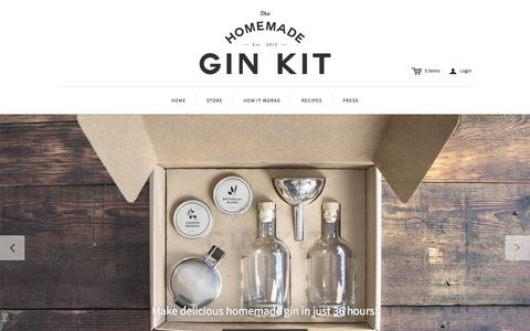 Screenshot of Home Page homemadegin.com - The Homemade Gin Kit - captured Jan. 30, 2015