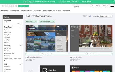 Screenshot of Case Studies Page crayon.co - Real Estate Case Studies Pages | Website Inspiration and Examples | Crayon - captured Feb. 2, 2017