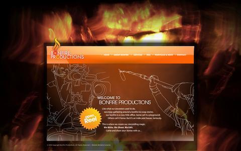 Screenshot of Home Page bonfire.com.ph - Bonfire Productions - captured Oct. 5, 2014