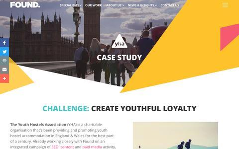 Screenshot of Case Studies Page found.co.uk - YHA Hostel Hacks Video Case Study | Found - captured Oct. 25, 2016