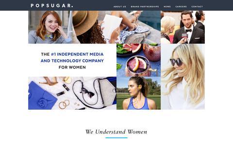 Screenshot of About Page Contact Page popsugar.com - POPSUGAR Inc. - captured Dec. 16, 2015
