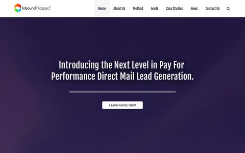 Screenshot of Terms Page inboundprospect.com - InboundProspect   Pay Per Acquisition Direct Mail Leads - captured Oct. 6, 2014