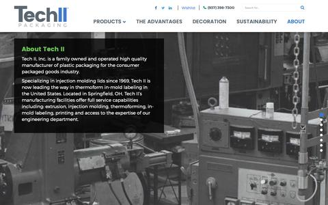 Screenshot of About Page techii.com - About Tech II : Retail Packaging Company - captured Oct. 18, 2018